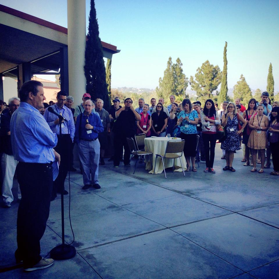 John Heritage gives a talk at ICCA 2014, UCLA.