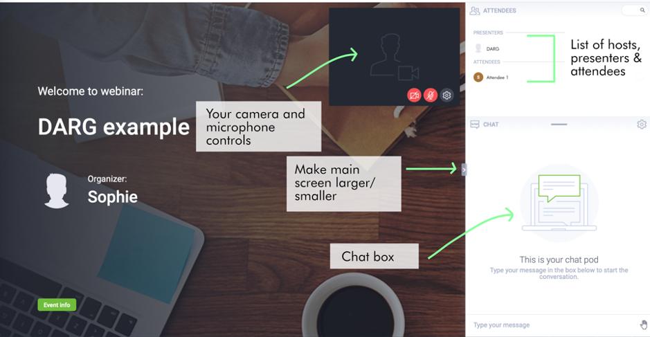 ClickMeeting interface